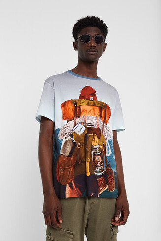 T-shirt oversize mountaineer print