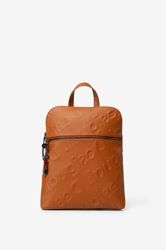 Embossed logomania backpack