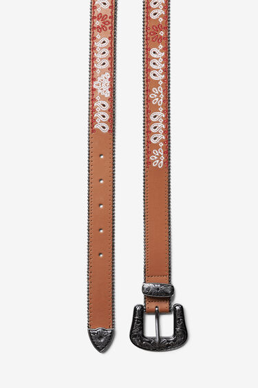 Cowboy faux leather belt | Desigual