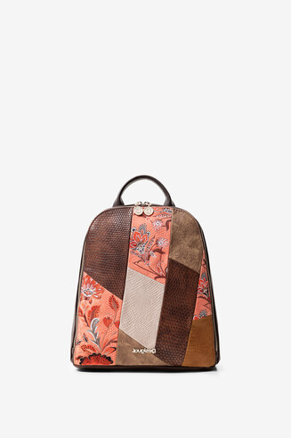 Boho backpack mandalas and flowers