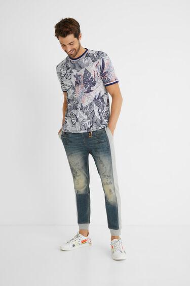 Jacquard T-shirt tropical | Desigual