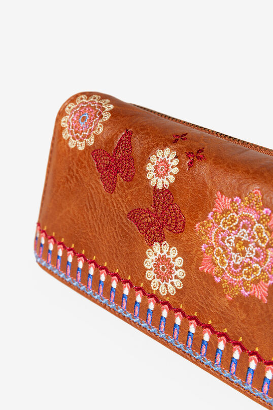 Rectangular embroidered coin purse | Desigual