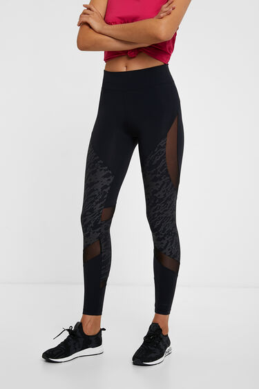 Long slim mesh leggings | Desigual
