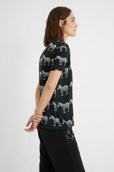 T-shirt manches courtes zèbre | Desigual
