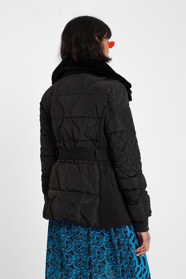 Jaqueta enconxada cinturó | Desigual