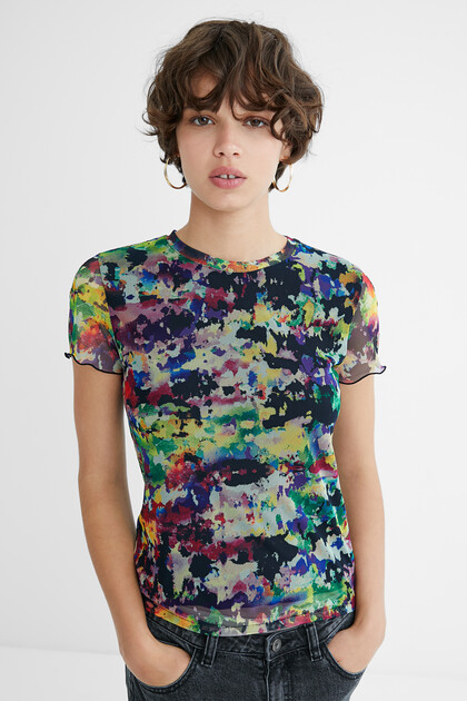 Arty slim T-shirt tulle