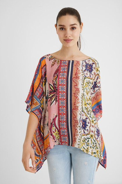 Loose paisley blouse