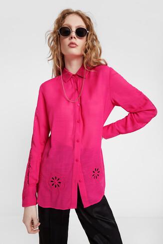 Shirt embossing and mandalas