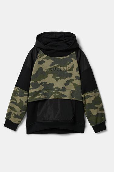 Sweatshirt camuflagem capuz   Desigual