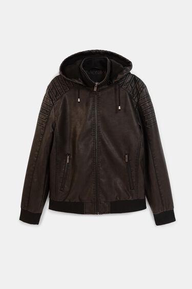 Hooded biker jacket | Desigual