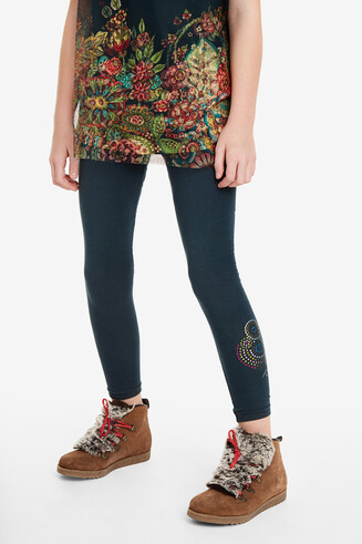 Sequinned mandala leggings