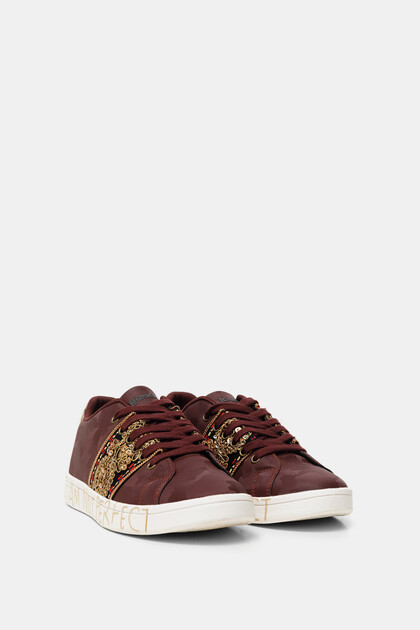 Street sneakers synthetic leather