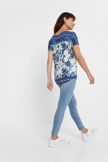 T-shirt met boho-paisley | Desigual