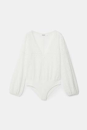 Slim bodysuit lace
