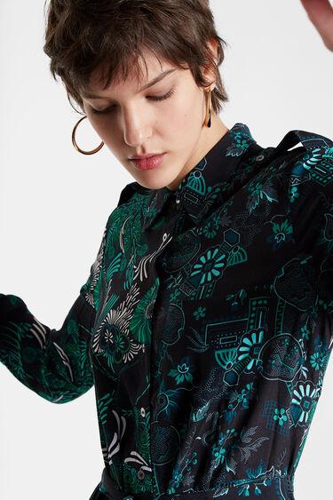 Midi shirt dress print | Desigual