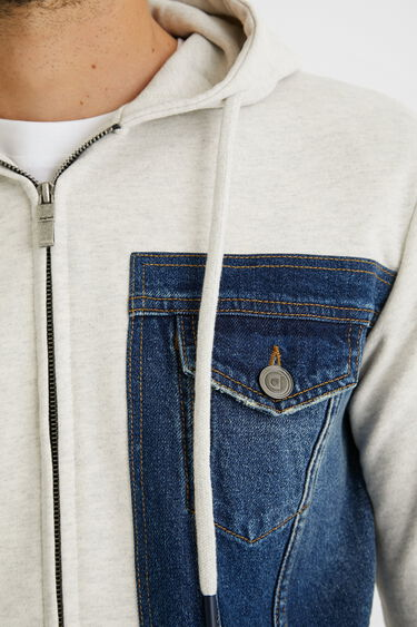 Sweatshirt jacket plush hood | Desigual