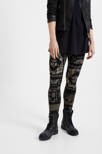 Boho-Leggings im Slim Fit