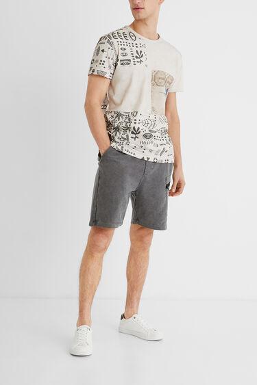 T-shirt patch ethnique | Desigual