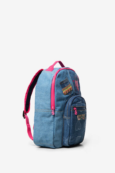 Sequinned denim backpack | Desigual