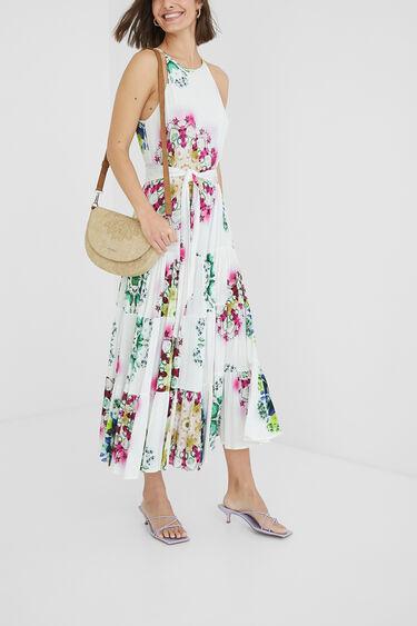 Lange jurk met caleidoscopische print | Desigual