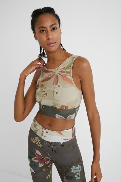 Top desportivo camoflower