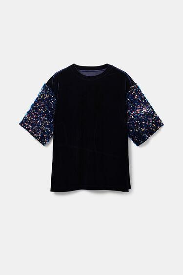 Velvety T-shirt sequins   Desigual