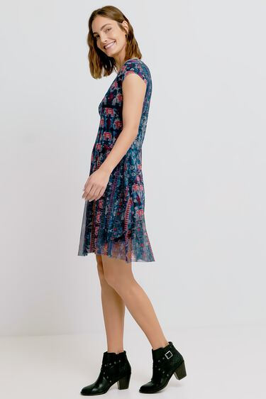 Flared dress V-neck | Desigual