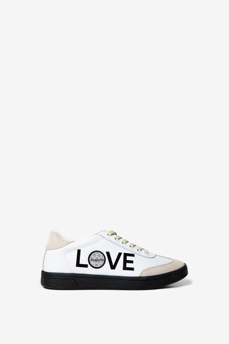 LOVE message sneakers