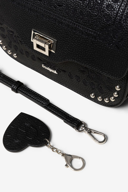 Embossed sling bag with matching keyring   Desigual