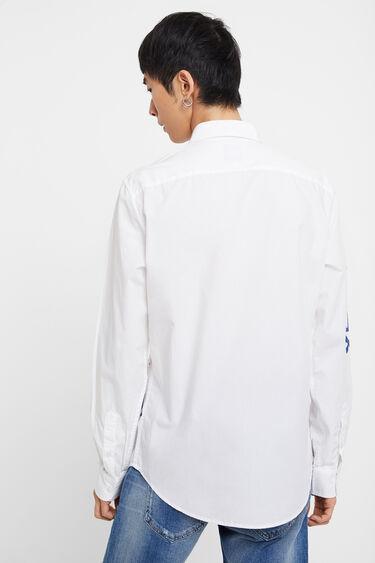 Camisa regular lettering pintat | Desigual