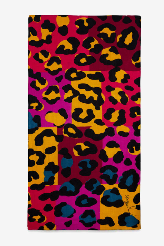 Multicolour animal print scarf | Desigual