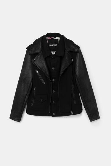 Hybrid biker jacket | Desigual