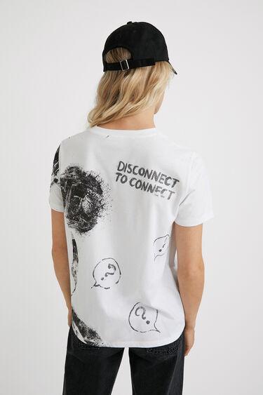T-shirt de algodão ilustração | Desigual