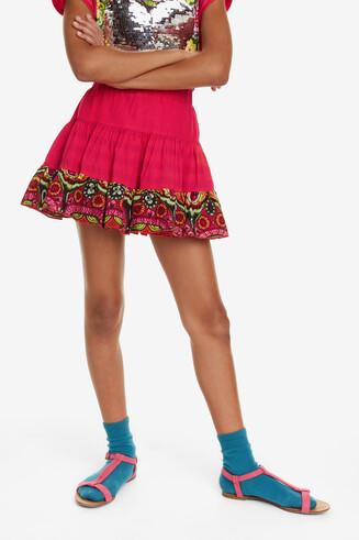 Glitter Waist Fuchsia Skirt Bellprat