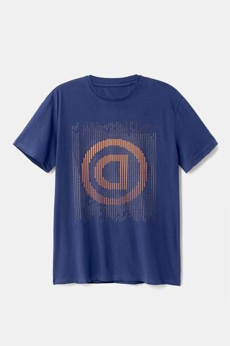 Pointillist T-shirt with logo