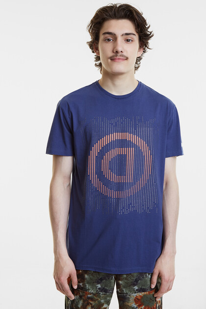 Pointillist T-shirt with logo