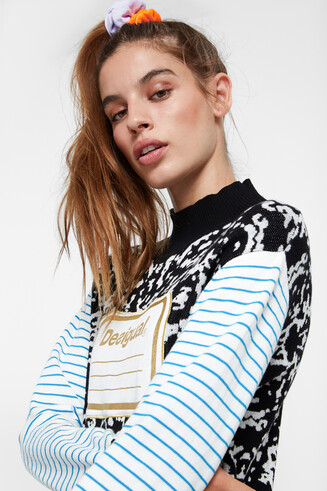 Young Talents high neck tricot sweater