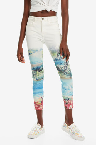 Pantalon 7/8 tropical Juno