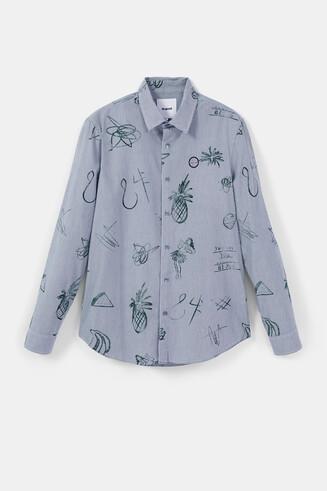 Camisa casual rayas y bolimanía
