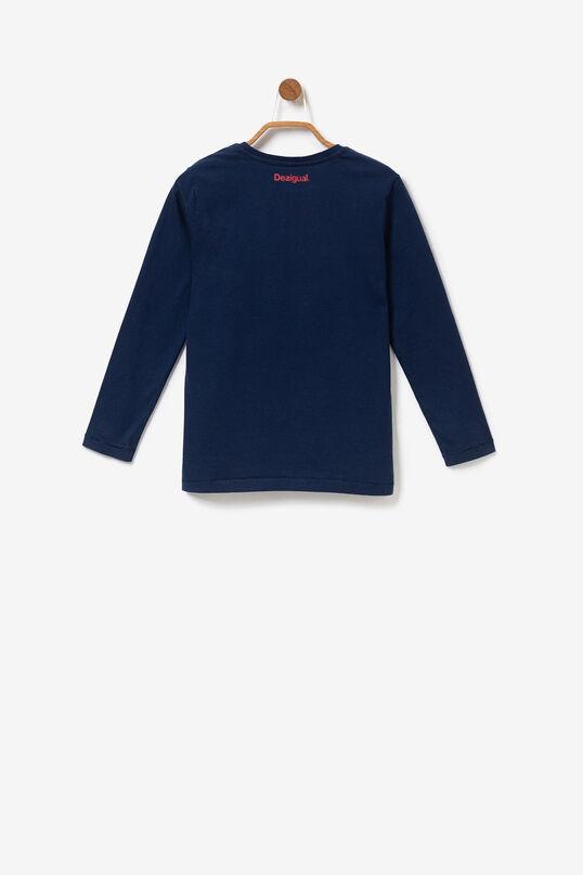 Maglietta basic a manica lunga print posizionale | Desigual