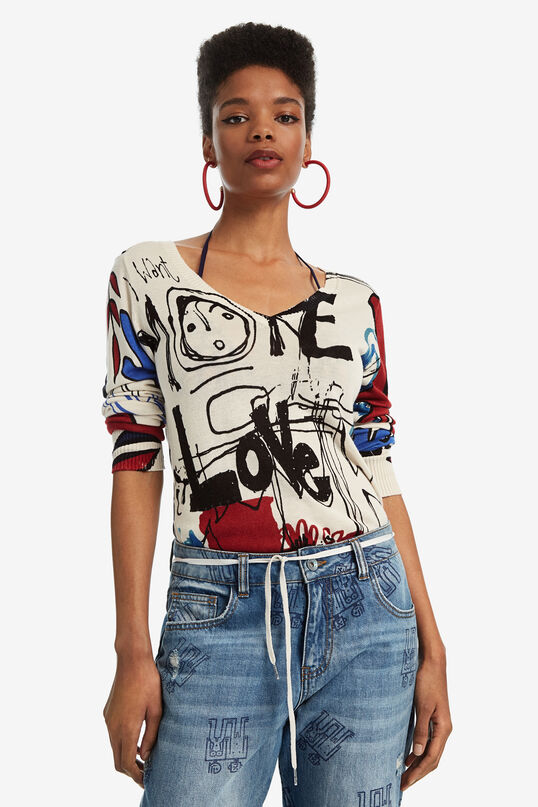 V-neck viscose jumper | Desigual