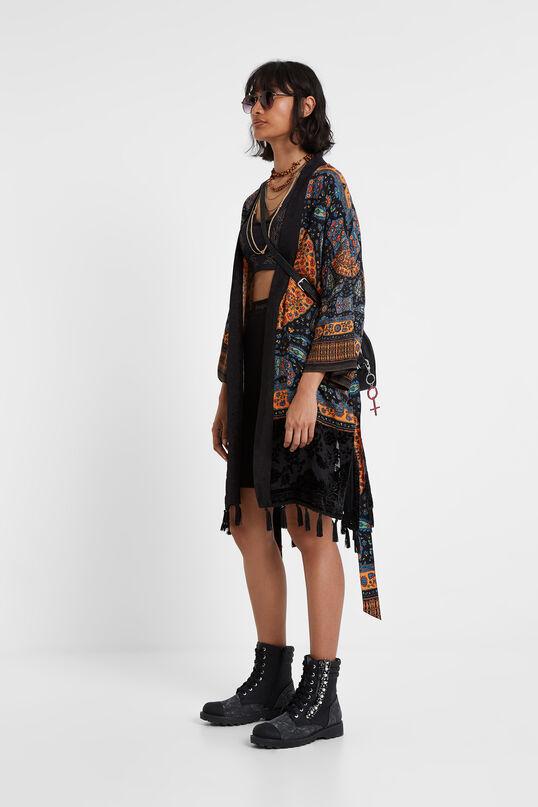 Ethno-Kimono mit Troddeln | Desigual