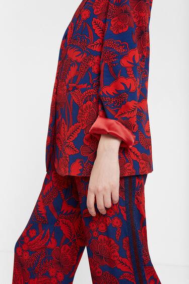 Burgundy floral blazer | Desigual