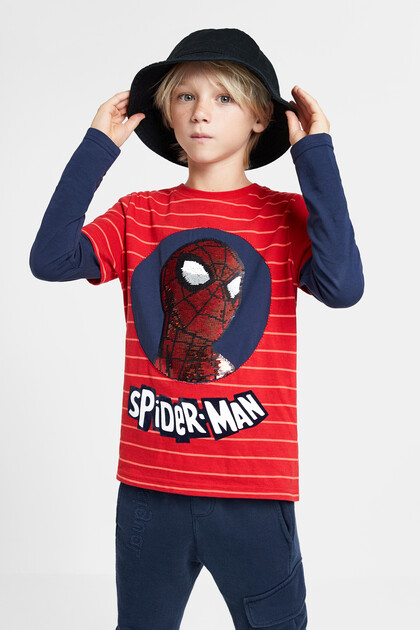 Spider-man T-shirt reversible sequins