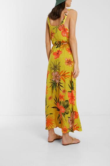 Long eco floral dress | Desigual