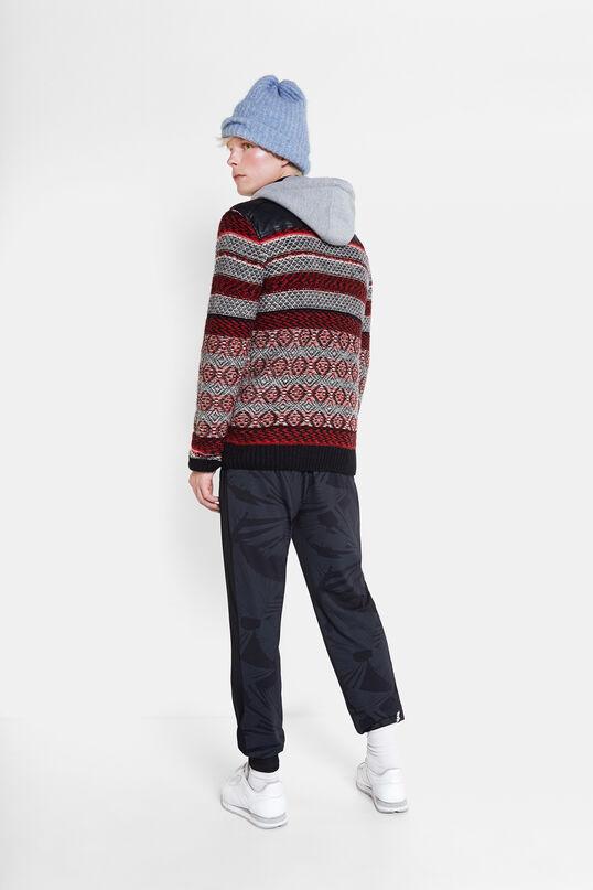 Pull en laine et cuir | Desigual