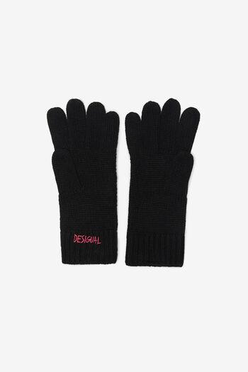 Gebreide handschoenen in boho-stijl | Desigual