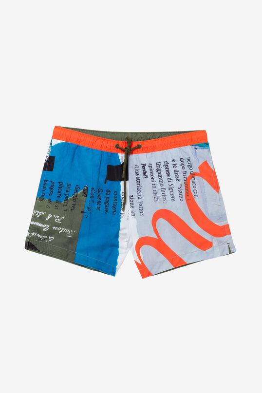 Bañador boxer con tipografías David | Desigual