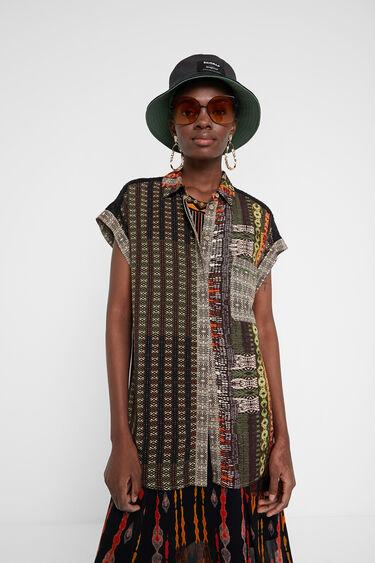 Camisa manga corta cenefa africana | Desigual