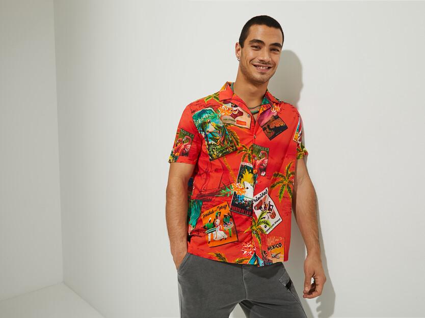 Camisa hawaiana 100% cotó